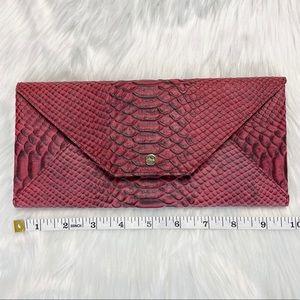 Abas Croc Embossed Travel Wallet